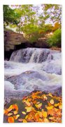 Royal River White Waterfall Hand Towel