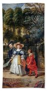 Rubens In His Garden With Helena Fourment Bath Towel