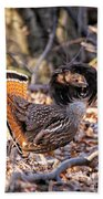 Ruffed Grouse Ruffed Up Bath Towel