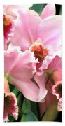 Ruffles And Flourishes Cattleya Orchids Bath Towel