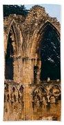 Ruins Of St. Mary's Abbey Bath Towel