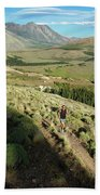 Running In Esquel, Chubut, Argentina Hand Towel