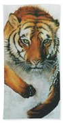 Running Tiger Bath Towel