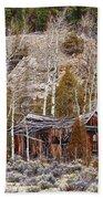 Rural Rustic Rundown Rocky Mountain Cabin Bath Towel