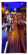 Rush Hour Traffic On North Capitol Show Hand Towel