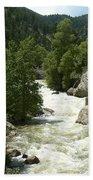 Rushing Water In Boulder Canyon Bath Towel