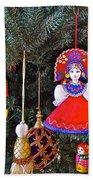 Russian Christmas Tree Decoration In Fredrick Meijer Gardens And Sculpture Park In Grand Rapids-mi Bath Towel