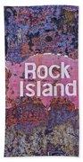 Rusted Rock Island Line Train Car Bath Towel