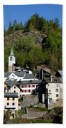 Rustic Alpine Village Bath Towel