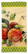 Rustic Apples On Moroccan Bath Towel