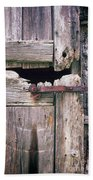 Rustic Barn Door Bath Towel