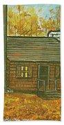 Rustic Cabin At Lake Hope Ohio Bath Towel
