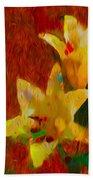 Rustic Lilies Bath Towel