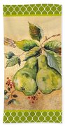 Rustic Pears On Moroccan Bath Towel