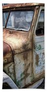 Rusty Classic Willy's Jeep Pickup Bath Towel