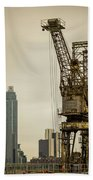 Rusty Cranes At Battersea Power Station Hand Towel