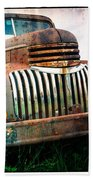 Rusty Old Chevy Pickup Hand Towel