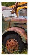 Rusty Old Trucks Bath Towel