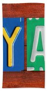 Ryan License Plate Name Sign Fun Kid Room Decor. Bath Towel
