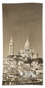 Sacre Coeur Basilica Of Montmartre In Paris Bath Towel