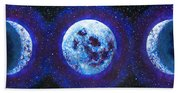 Sacred Feminine Blue Moon Bath Towel