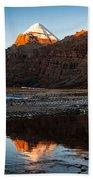 Sacred Mountain In Tibet - Mount Kailash Bath Towel