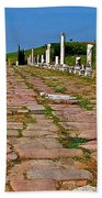 Sacred Road To Asclepion In Pergamum-turkey  Bath Towel