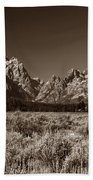 Sagebrush And Tetons Bath Towel