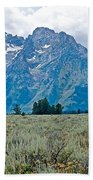 Sagebrush Flatland And Teton Peaks Near Jenny Lake In Grand Teton National Park-wyoming- Bath Towel