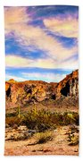 Saguaro Superstition Mountains Arizona Bath Towel