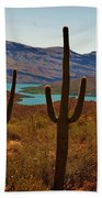 Saguaros In Arizona Bath Towel