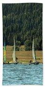 Sailboat Regatta Cascade Lake Bath Towel