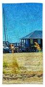 Sailboats Boat Harbor - Quiet Day At The Harbor Bath Towel