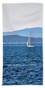 Sailing Amidst The Buoys Bath Towel