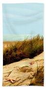 Sailing By Sand Dune Bath Towel