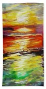 Sailing In The Sunset Bath Towel