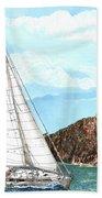 Bay Of Islands Sailing Sailing Bath Towel