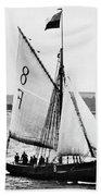 Sailing Ship Cutter Bath Towel