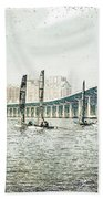 Sailing Sketch Photo Bath Towel