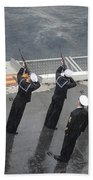 Sailors Fire A 21-gun Salute Bath Towel