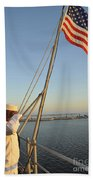 Sailors Salute The National Ensign Bath Towel