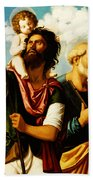 Saint Christopher With Saint Peter Bath Towel