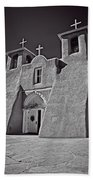 Saint Francis In Black And White Bath Towel