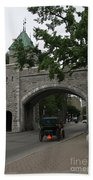 Saint Louis Gate In Ramparts Of Quebec City Bath Towel