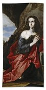 Saint Mary Magdalene In The Desert Bath Towel