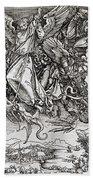 Saint Michael And The Dragon Hand Towel