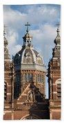 Saint Nicholas Church In Amsterdam Hand Towel