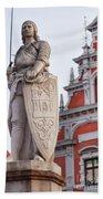 Saint Roland I Riga Old Town Bath Towel