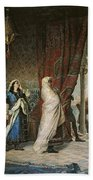 Salida Del Boabdil, At The Alhambra Oil On Canvas Bath Towel