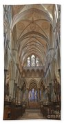 Salisbury Cathedral Quire And High Altar Bath Towel